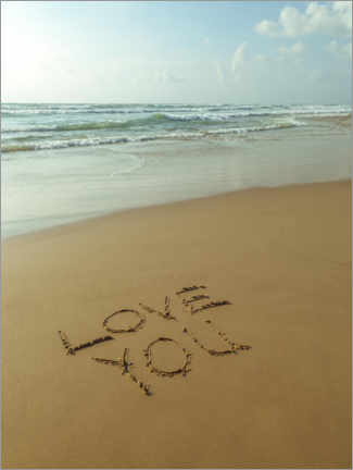 Poster Je t'aime - LOVE YOU