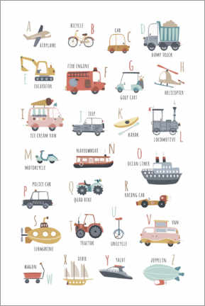 Poster  My vehicles ABC (english) - Marta Munte