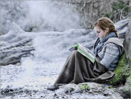 Tableau en plexi-alu  The Deathly Hallows I - Hermione with her book