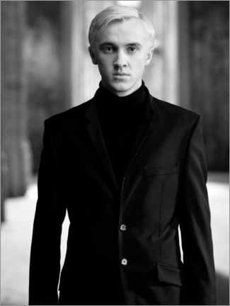 Poster  The Half-Blood Prince - Draco Malfoy bw portrait