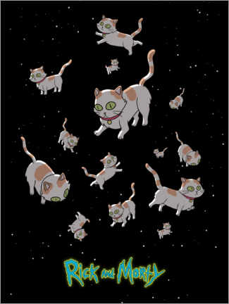 Poster  Rick and Morty - Space Cats