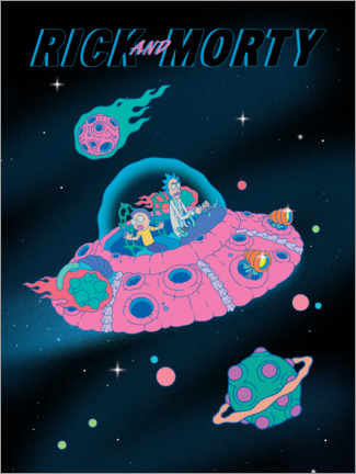 Sticker mural  Rick and Morty - Space Ship