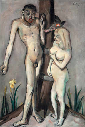Sticker mural  Adam et Eve - Max Beckmann