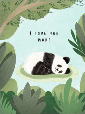 Tableau en plexi-alu  I love you more - Nikita Jariwala