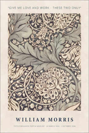 Poster  William Morris - Love and work - Museum Art Edition