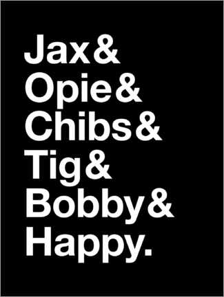 Poster Sons Of Anarchy - Names