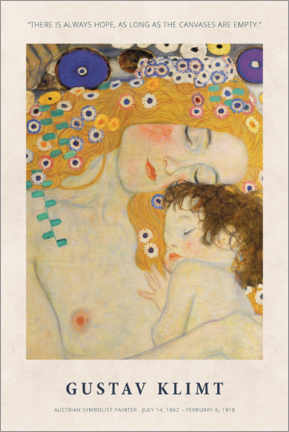 Poster  Gustav Klimt - There is always hope - Museum Art Edition