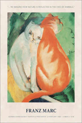 Poster  Franz Marc - In the eyes of animals - Museum Art Edition