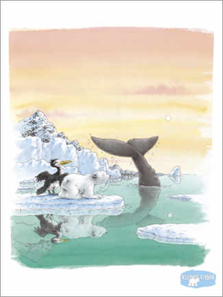 Poster  The little polar bear Lars and the big whale