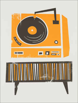 Poster Record Player