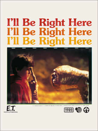 Poster  E.T. - I'll be right here