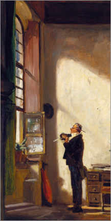 Tableau en PVC  The Writer - Carl Spitzweg