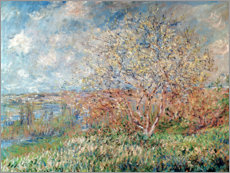 Tableau en plexi-alu  Printemps - Claude Monet
