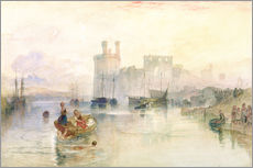 Tableau en plexi-alu  View of Carnarvon Castle - Joseph Mallord William Turner