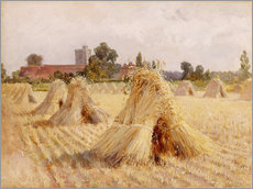 Tableau en plexi-alu  Corn Stooks by Bray Church - Hardy Heywood