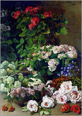 Sticker mural  Fleurs de printemps - Claude Monet