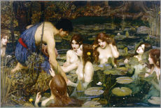 Sticker mural  Nymphes - John William Waterhouse