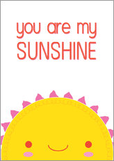 Tableau en plexi-alu  You are my sunshine - Kat Kalindi Cameron