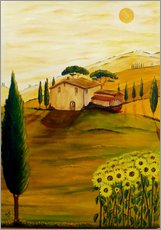 Sticker mural  Tournesols en Toscane - Christine Huwer