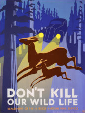 Tableau en aluminium  Do not kill our wildlife - Advertising Collection