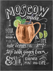 Sticker mural  Recette du Moscow mule (anglais) - Lily & Val
