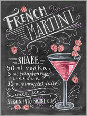 Sticker mural  Recette du French Martini Raspberry (anglais) - Lily & Val