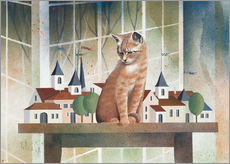 Sticker mural  Le regard du chat - Franz Heigl