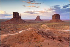 Tableau en plexi-alu  Monument Valley au crépuscule - Chris Hepburn