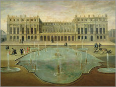 Tableau en plexi-alu  Chateau de Versailles from the Garden Side - French School