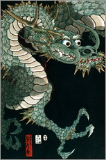 Sticker mural  Un dragon - Utagawa Sadahide