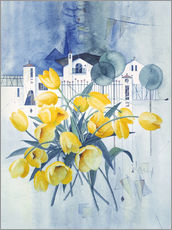 Sticker mural  View with tulips - Franz Heigl