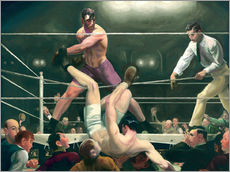 Sticker mural  Dempsey et Firpo - George Wesley Bellows