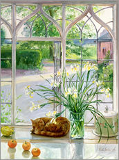 Tableau en plexi-alu  Chat dormant à la fenêtre - Timothy Easton