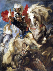 Tableau en PVC  Saint Georges et le Dragon - Peter Paul Rubens