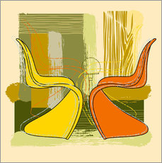 Sticker mural Panton Chair 01