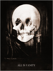 Sticker mural  All is vanity (sépia) - Charles Allan Gilbert