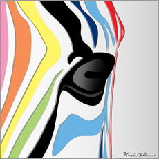 Sticker mural  zebra - Mark Ashkenazi