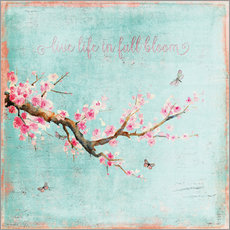 Tableau en plexi-alu  Live life in full bloom - UtArt