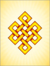 Tableau en plexi-alu  Endless Knot - Artwork Yellow - Dirk Czarnota