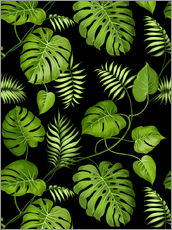 Sticker mural  Monstera with palms