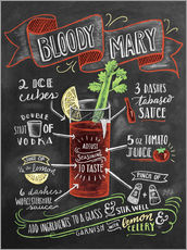 Sticker mural  Recette du Bloody Mary (anglais) - Lily & Val