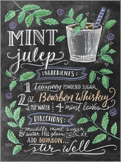 Sticker mural  Recette du cocktail Mint julep (anglais) - Lily & Val