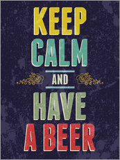 Sticker mural  Keep calm and have a beer - Typobox