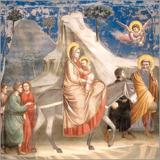 Tableau en plexi-alu  The Flight to Egypt - Giotto di Bondone