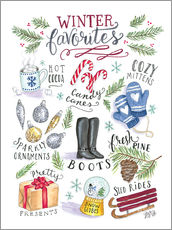 Sticker mural  Winter Favourites - Lily & Val