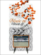 Sticker mural  Music On - Mandy Reinmuth