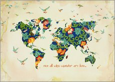 Sticker mural  Not all who wander are lost - Mandy Reinmuth