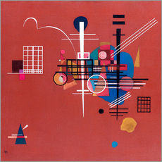 Sticker mural  Rouge terne - Wassily Kandinsky