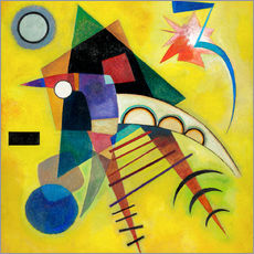 Sticker mural  Point blanc - Wassily Kandinsky