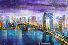 Tableau en plexi-alu  Manhattan Bridge - Johann Pickl
